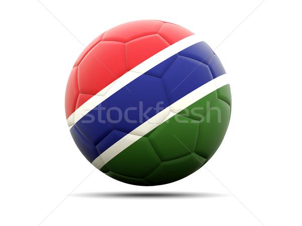 サッカー フラグ ガンビア 3次元の図 サッカー スポーツ ストックフォト © MikhailMishchenko