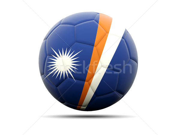 Football with flag of marshall islands Stock photo © MikhailMishchenko