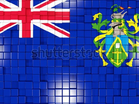 Praça bandeira Tuvalu ilustração 3d mosaico Foto stock © MikhailMishchenko
