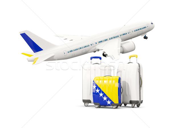 Equipaje bandera tres bolsas aire avión Foto stock © MikhailMishchenko