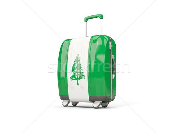 Luggage with flag of norfolk island. Suitcase isolated on white Stock photo © MikhailMishchenko