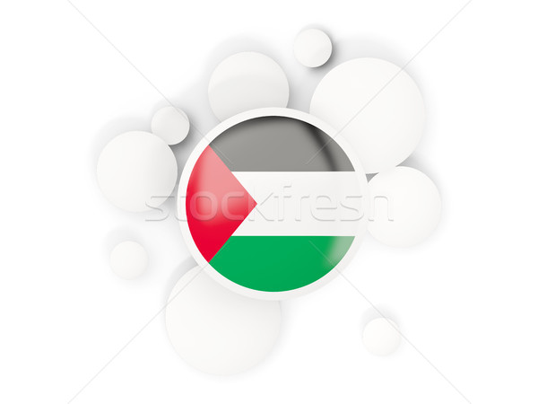 Round flag of palestinian territory with circles pattern Stock photo © MikhailMishchenko