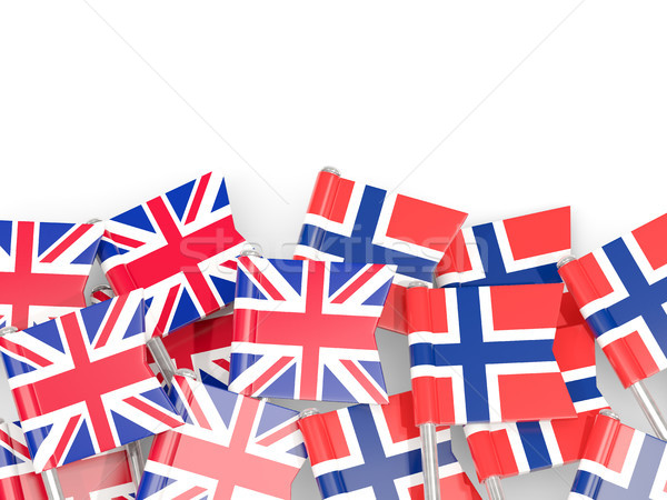 Bandera reino aislado blanco 3d Europa Foto stock © MikhailMishchenko
