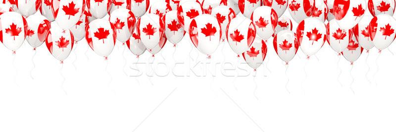 Balloons frame with flag of canada Stock photo © MikhailMishchenko