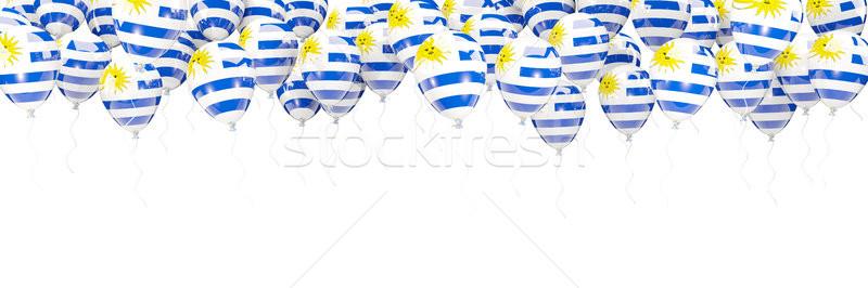 шаров кадр флаг Уругвай изолированный белый Сток-фото © MikhailMishchenko