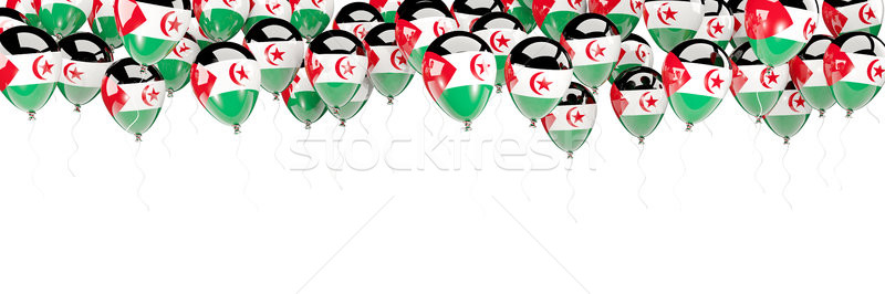 Balonlar çerçeve bayrak batı sahara yalıtılmış Stok fotoğraf © MikhailMishchenko