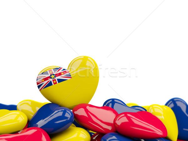 Heart with flag of niue Stock photo © MikhailMishchenko