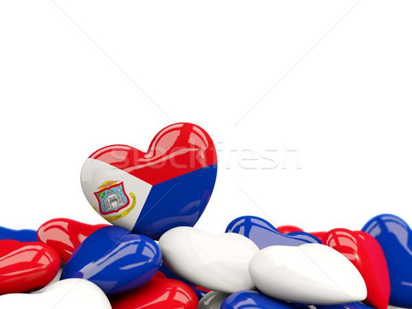 Heart with flag of sint maarten Stock photo © MikhailMishchenko