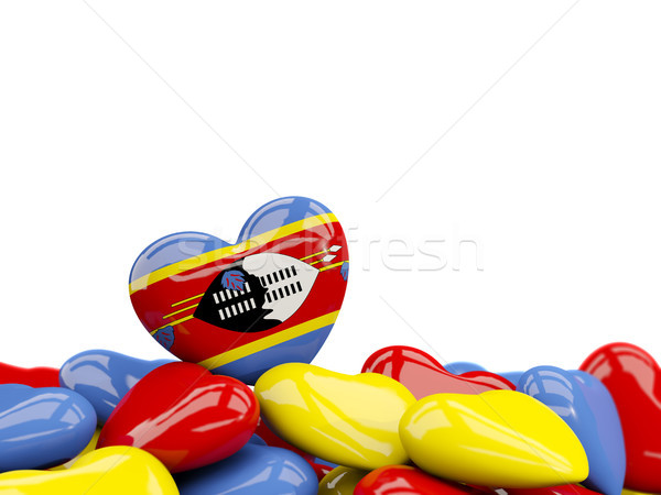 Heart with flag of swaziland Stock photo © MikhailMishchenko