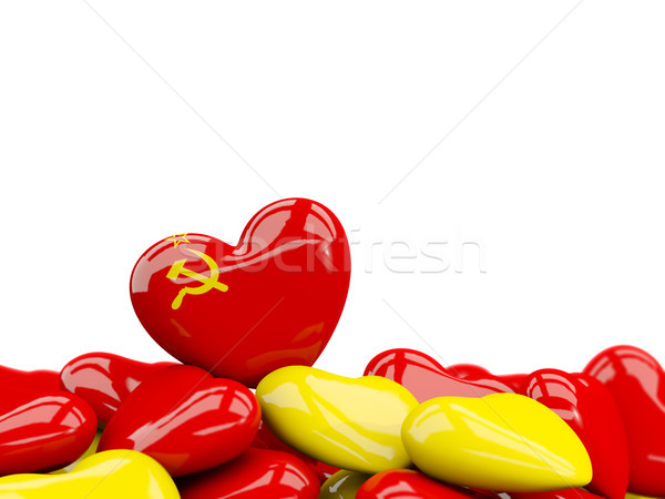 Heart with flag of ussr Stock photo © MikhailMishchenko