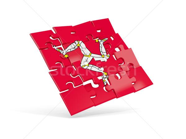 Puzzle flag of isle of man isolated on white Stock photo © MikhailMishchenko