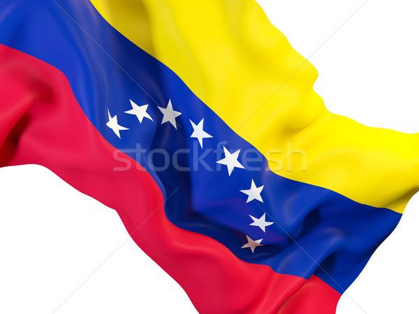 Integet zászló Venezuela közelkép 3d illusztráció utazás Stock fotó © MikhailMishchenko