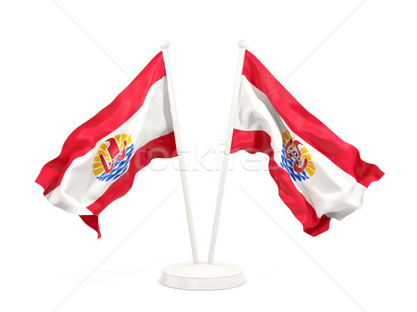 Two waving flags of french polynesia Stock photo © MikhailMishchenko