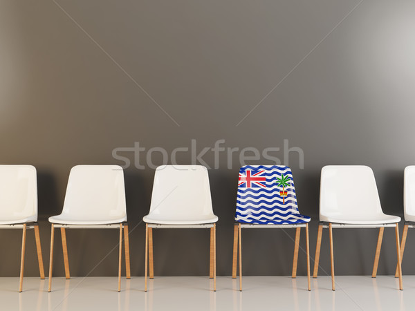 Chair with flag of british indian ocean territory Stock photo © MikhailMishchenko