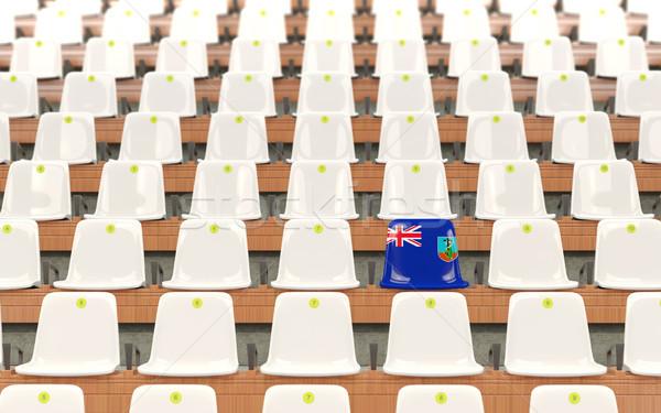 Estadio asiento bandera blanco sillas Foto stock © MikhailMishchenko