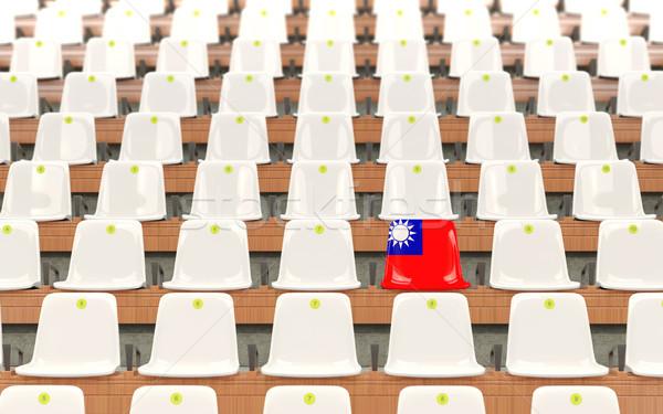 Stadium seat with flag of taiwan Stock photo © MikhailMishchenko