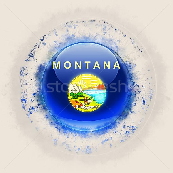 Montana zászló grunge ikon Egyesült Államok helyi Stock fotó © MikhailMishchenko