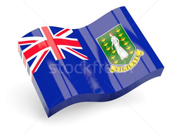 3D флаг Виргинские о-ва британский изолированный белый Сток-фото © MikhailMishchenko
