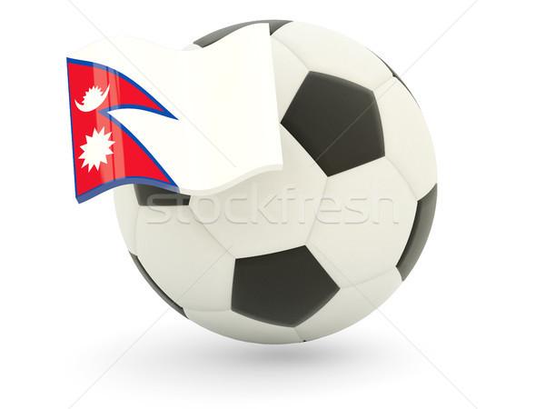 Futbol bayrak Nepal yalıtılmış beyaz spor Stok fotoğraf © MikhailMishchenko
