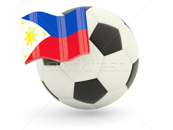 サッカー フラグ フィリピン 孤立した 白 スポーツ ストックフォト © MikhailMishchenko