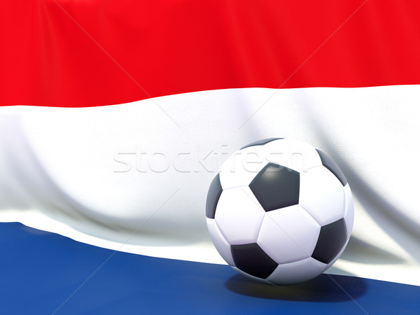 Flag of bonaire with football in front of it Stock photo © MikhailMishchenko