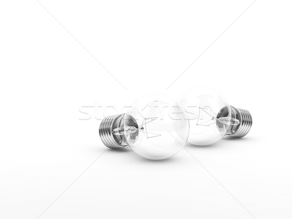 Two bulbs isolated on white Stock photo © MikhailMishchenko
