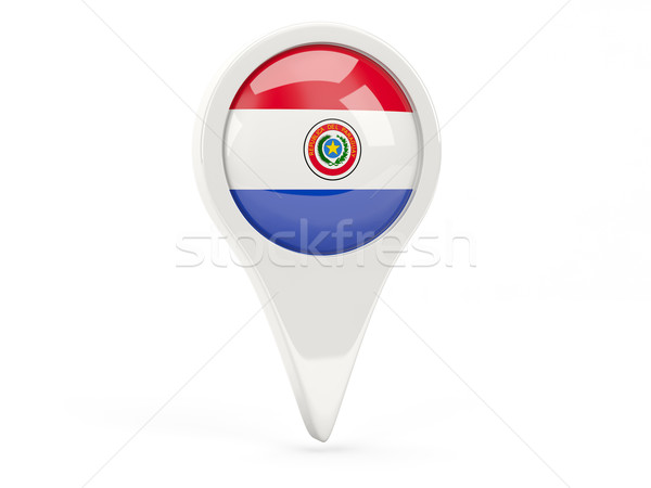Round flag icon of paraguay Stock photo © MikhailMishchenko