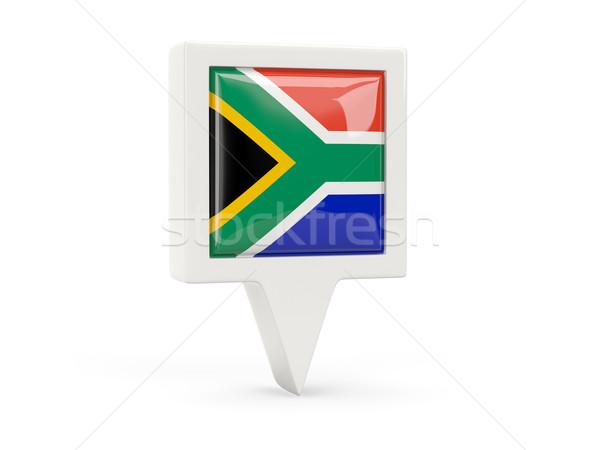 Square flag icon of south africa Stock photo © MikhailMishchenko