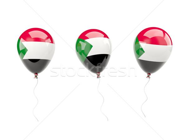 Levegő léggömbök zászló Szudán izolált fehér Stock fotó © MikhailMishchenko
