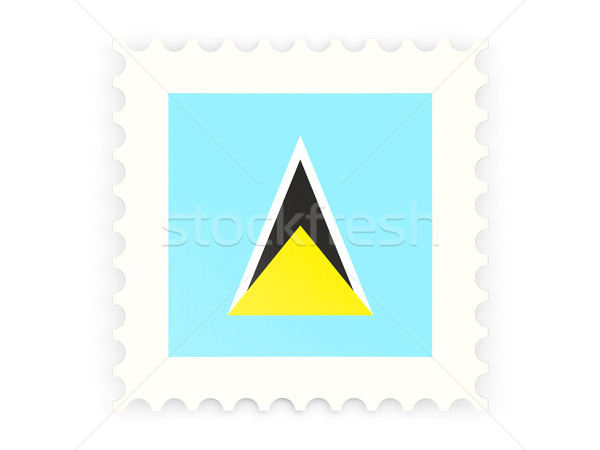 Postage stamp icon of saint lucia Stock photo © MikhailMishchenko