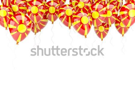 Ballon frame vlag Kirgizië geïsoleerd witte Stockfoto © MikhailMishchenko