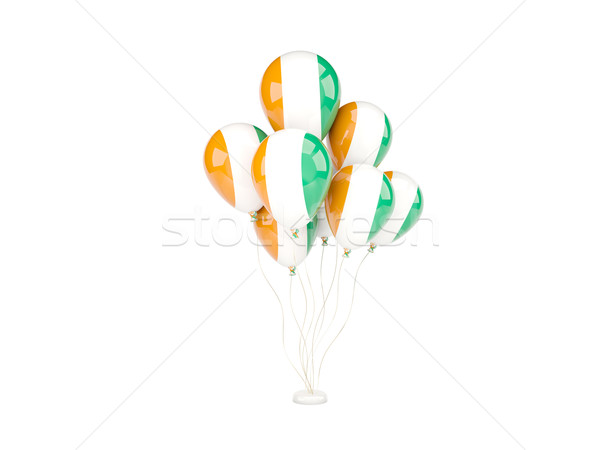 Flying balloons with flag of cote d'Ivoire Stock photo © MikhailMishchenko