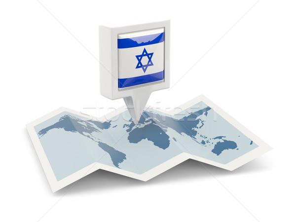 広場 ピン フラグ イスラエル 地図 旅行 ストックフォト © MikhailMishchenko