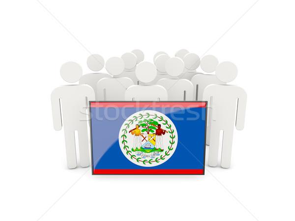 Emberek zászló Belize izolált fehér tömeg Stock fotó © MikhailMishchenko