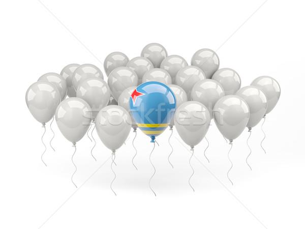 Air balloons with flag of aruba Stock photo © MikhailMishchenko