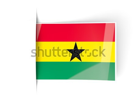 Square metal button with flag of ghana Stock photo © MikhailMishchenko