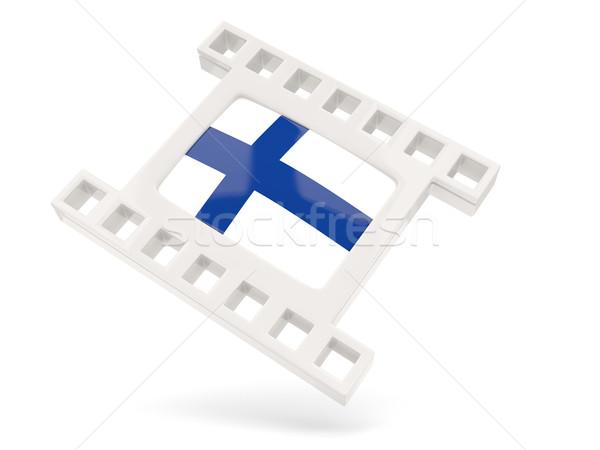 Película icono bandera Finlandia aislado blanco Foto stock © MikhailMishchenko
