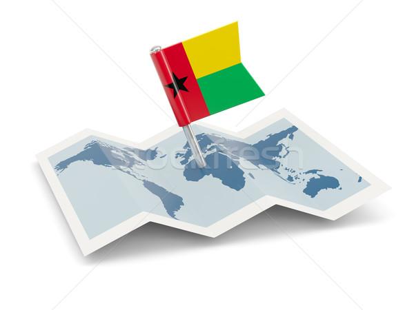 Pokaż banderą Gwinea odizolowany biały Zdjęcia stock © MikhailMishchenko