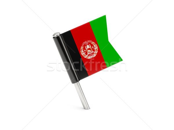 Flagge Pin Afghanistan isoliert weiß Reise Stock foto © MikhailMishchenko