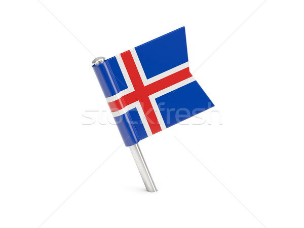 Flag pin of iceland Stock photo © MikhailMishchenko