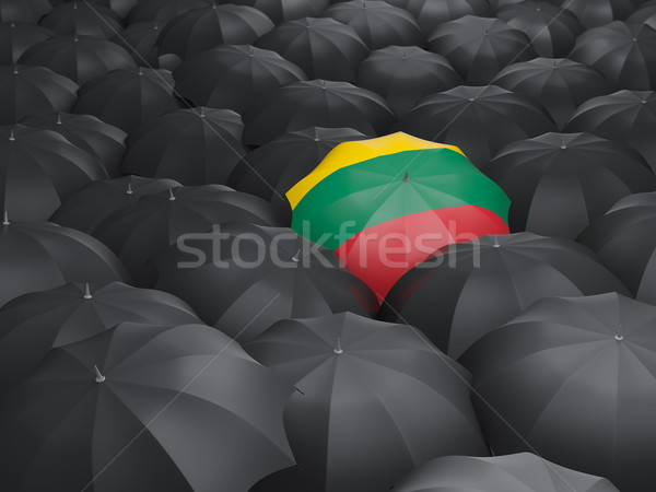 Umbrella with flag of lithuania Stock photo © MikhailMishchenko