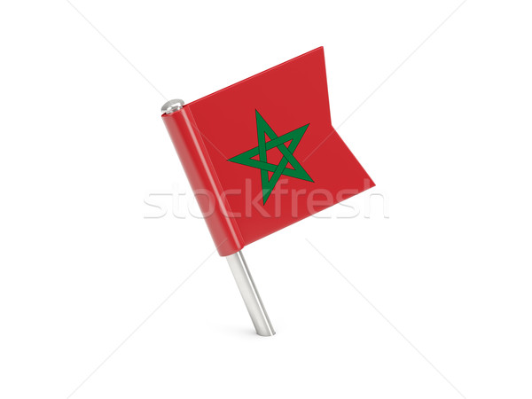 Flag pin of morocco Stock photo © MikhailMishchenko