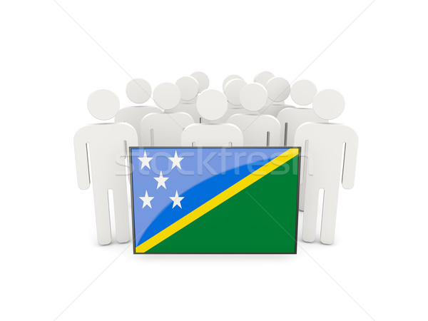 People with flag of solomon islands Stock photo © MikhailMishchenko