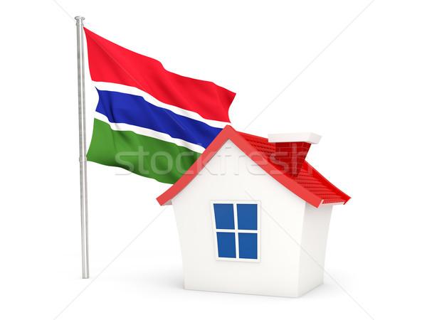 House with flag of gambia Stock photo © MikhailMishchenko