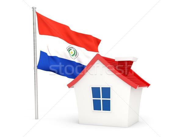 House with flag of paraguay Stock photo © MikhailMishchenko