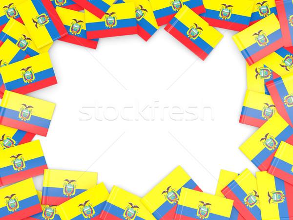 フレーム フラグ エクアドル 孤立した 白 ストックフォト © MikhailMishchenko