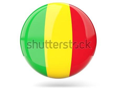 Round icon with flag of guinea Stock photo © MikhailMishchenko