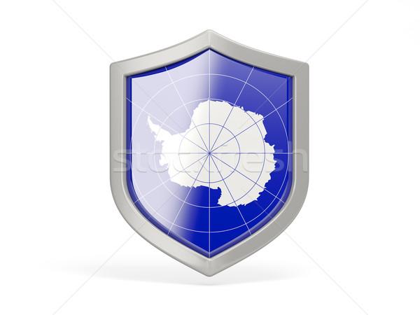 Shield icon with flag of antarctica Stock photo © MikhailMishchenko