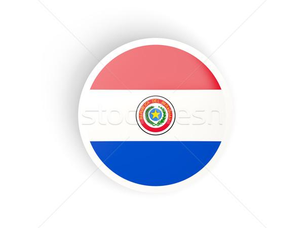 Matrica zászló Paraguay izolált fehér utazás Stock fotó © MikhailMishchenko