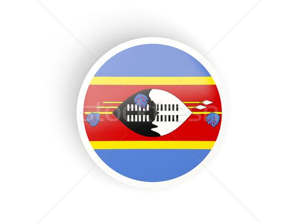 Sticker vlag Swaziland geïsoleerd witte reizen Stockfoto © MikhailMishchenko